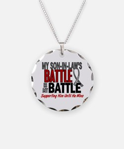 My Battle Too Brain Cancer Necklace