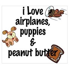 I Love Airplanes Wall Art Poster