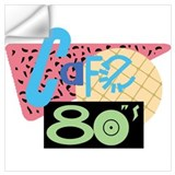 Cafe 80s Wall Decals