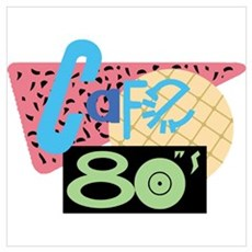 Cafe 80s Wall Art Canvas Art