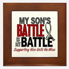 My Battle Too Brain Cancer Framed Tile