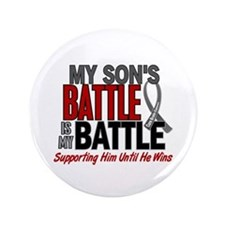 "My Battle Too Brain Cancer 3.5"" Button (100 pack)"