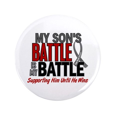 """My Battle Too Brain Cancer 3.5"""" Button (100 pack)"""