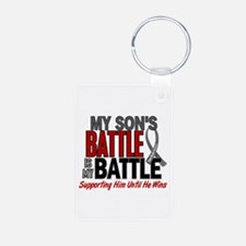 My Battle Too Brain Cancer Aluminum Photo Keychain