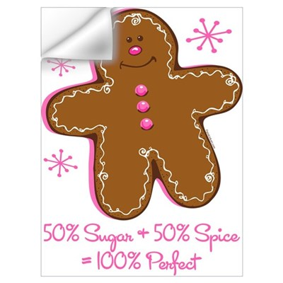 Sugar & Spice Gingerbread Wall Art Wall Decal
