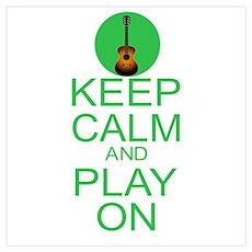 Keep Calm Parody Guitar Wall Art Poster