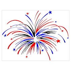 Fireworks Wall Art Poster