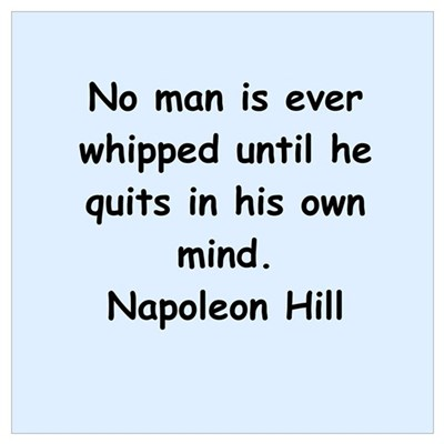 Napolean Hill quotes Wall Art Poster