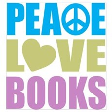 Peace Love Books Wall Art Framed Print