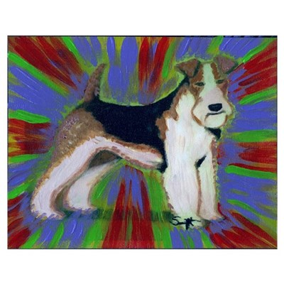Wire Fox Terrier Wall Art Poster