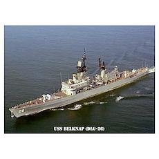 USS BELKNAP Wall Art Poster