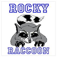 Rocky Raccoon Wall Art Poster