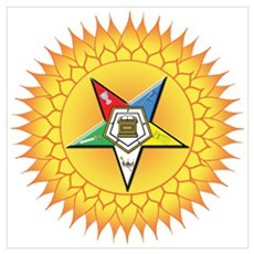 OES Star in the sun Wall Art Poster