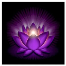 "Violet ""Crown"" Chakra Lotus Wall Art Framed Print"