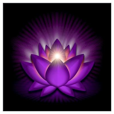 "Violet ""Crown"" Chakra Lotus Wall Art Poster"