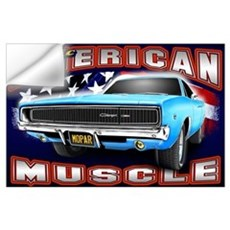 American Muscle - Charger Wall Art Wall Decal