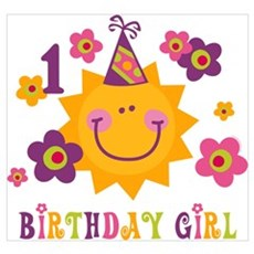 Sun 1st Birthday Wall Art Poster