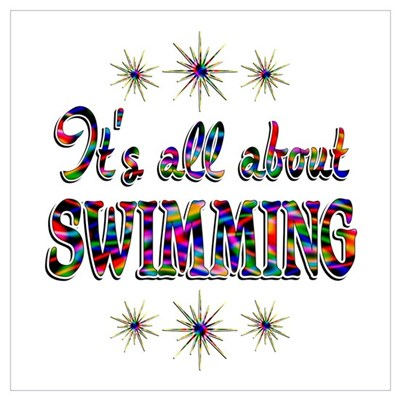 About Swimming Wall Art Poster