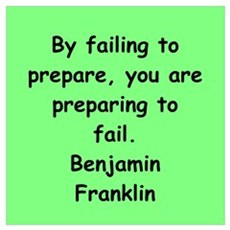 ben franklin quotes Wall Art Poster