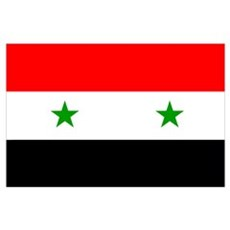 Flag of Syria Wall Art Poster