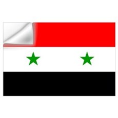 Flag of Syria Wall Art Wall Decal