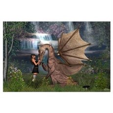 Dragon Love Wall Art Poster