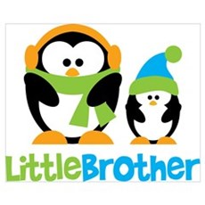 2 Penguins Little Brother Wall Art Poster