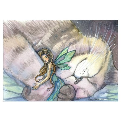 Cat and Fairy Wall Art Poster