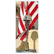 A battlefield memorial cross rifle display Poster