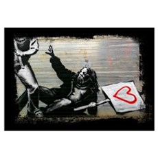 Love Protester, Thoughtful, Wall Art Framed Print
