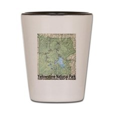 Yellowstone NP Topo Map Shot Glass