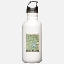 Yellowstone NP Topo Map Water Bottle