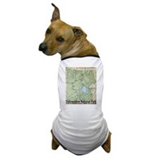 Yellowstone NP Topo Map Dog T-Shirt