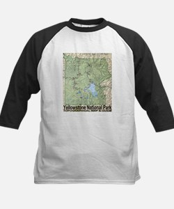 Yellowstone NP Topo Map Tee