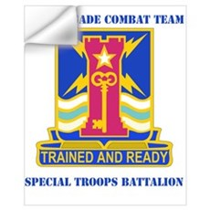 DUI - 4th BCT - Special Troops Bn with Text Mini P Wall Decal
