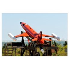 A BQM-167A Subscale Aerial Target is ready for lau Poster