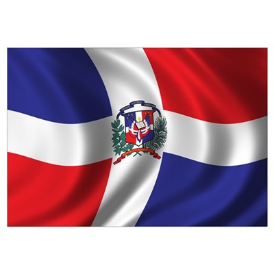 Flag of the Dominican Republic Wall Art Framed Print