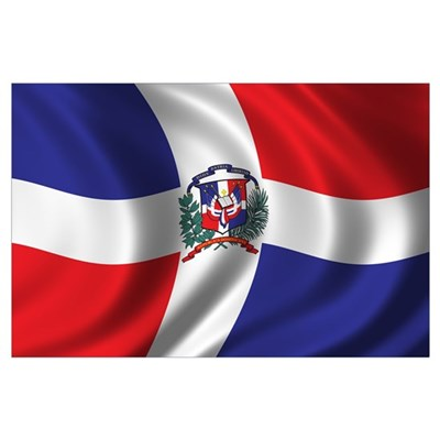 Flag of the Dominican Republic Wall Art Poster