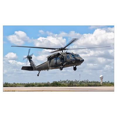 A Brazilian Air Force UH-60L Black Hawk at Natal A Poster