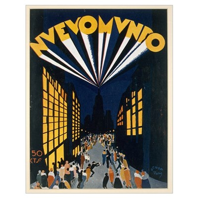 Nuovo Mondo, poster advertising a Radio City style Poster