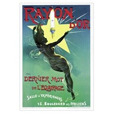 Poster advertising 'Rayon d'Or' lighting (colour l Poster
