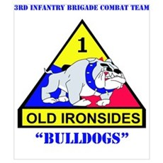 DUI - 3rd Infantry BCT with Text Wall Art Poster