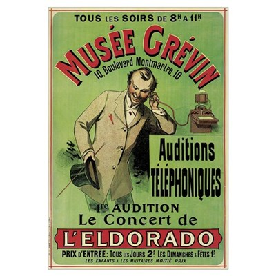 Poster advertising a concert at the Grevin Museum Poster