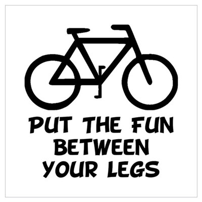 Bike Fun Wall Art Poster