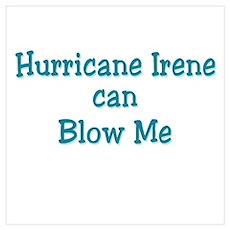 Hurricane Irene can Blow Me Wall Art Poster
