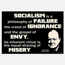 Churchill Socialism Quote Wall Art