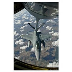 A Chilean Air Force F-16 refuels from a U.S. Air F Poster
