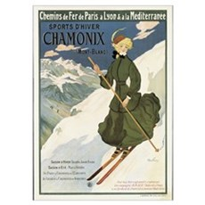 Poster advertising SNCF routes to Chamonix, 1910 ( Poster
