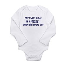 Cute Girls on the run Long Sleeve Infant Bodysuit