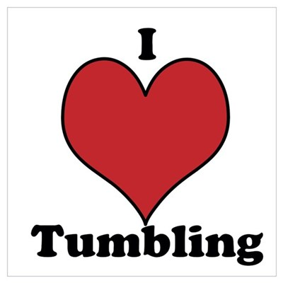 I Love Tumbling Wall Art Framed Print